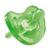 CHICCO Πιπίλα Physio Soft, 'Oλο Σιλικόνη, (Πράσινη) 12m+