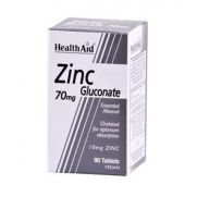 HEALTH AID Zinc Gluconate 70mg Tabs 90s