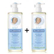KLORANE 2x Bebe Gentle Foaming Gel - Απαλό gel καθαρισμού σώματος & μαλλιών για βρέφη και μικρά παιδιά 500ml+500ml