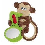 Chicco Musical Monkey Rattle - Κουδουνίστρα Μουσική Μαϊμού με Καθρεφτάκι 3m+ 1τμχ.