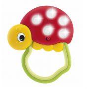 Chicco Ladybird Lights - Φωτιζόμενη Κουδουνίστρα Πασχαλίτσα πουά με Εργονομική Λαβή 3m+ 1τμχ.