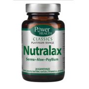 POWER HEALTH Classics Platinum - NutraLax Συμπλήρωμα για τη δυσκοιλιότητα 20 Κάψουλες