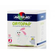 MASTER AID Ortopad Παιδικά Οφθαλμικά αυτοκόλλητα 50τμχ (67x50cm) Junior Λευκό (100.86)