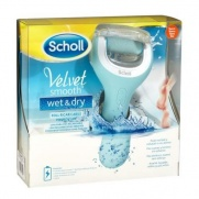 Scholl Velvet Smooth Wet & Dry (Ηλεκτρική Επαναφορτιζόμενη & Αδιάβροχη Λίμα Ποδιών)