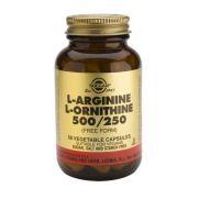 SOLGAR L-Arginine-L-Ornithine 500/250mg veg.caps 50s