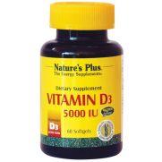 NATURE'S PLUS Vitamin D3 5000 I.U. Softgels 60s