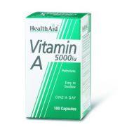 HEALTH AID Vitamin A 5000 I.U. Caps 100s