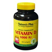 NATURE'S PLUS Vitamin D3 1000 I.U. Softgels 180s