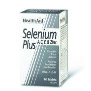 HEALTH AID Selenium Plus 200μg A, C, E & Zinc Tabs 60s