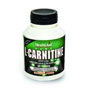 HEALTH AID L - Carnitine 550mg vit. B6 - Chromium Tabs 30s