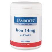 LAMBERTS Iron 14 mg Tabs 100s