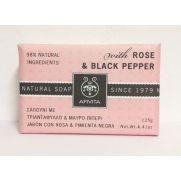 APIVITA Natural Soap - Σαπούνι με Τριαντάφυλλο & Μαύρο Πιπέρι 125g
