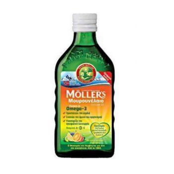 Moller's Μουρουνέλαιο Tutti Frutti - Παραδοσιακό Μουρουνέλαιο σε Υγρή Μορφή με Γεύση Φρούτων 250ml