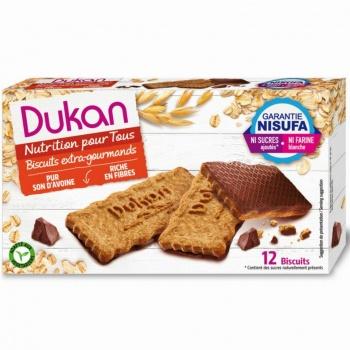 Dukan Expert Μπισκότα Βρώμης με επικάλυψη σοκολάτας, 200gr