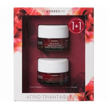 KORRES Set Άγριο Τριαντάφυλλο Κρέμα Ημέρας για Κανονικές/Μικτές Επιδερμίδες 40ml & Δώρο Κρέμα Νύχτας 40ml