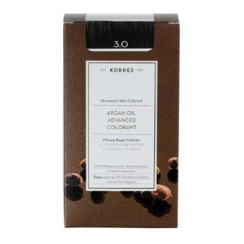KORRES Βαφες μαλλιων Argan Oil Advanced Colorant Μόνιμη βαφή μαλλιών 3.0 ΚΑΣΤΑΝΟ ΣΚΟΥΡΟ ΦΥΣΙΚΟ