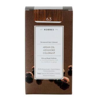 KORRES Βαφες μαλλιων Argan Oil Advanced Colorant Μόνιμη βαφή μαλλιών 6.3 ΞΑΝΘΟ ΣΚΟΥΡΟ ΜΕΛΙ