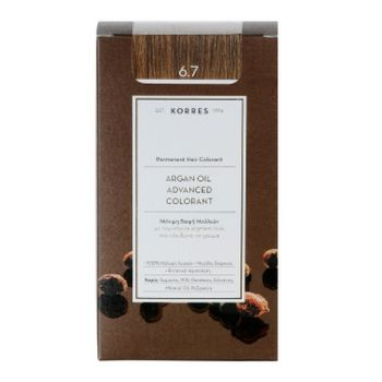 KORRES Βαφες μαλλιων Argan Oil Advanced Colorant Μόνιμη βαφή μαλλιών 6.7 ΚΑΚΑΟ