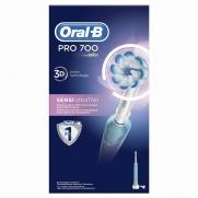 Oral-B PRO 700 3D Sensi Ultrathin Επαναφορτιζόμενη Ηλεκτρική Οδοντόβουρτσα