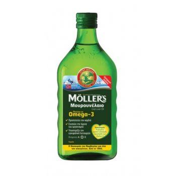 Moller's Μουρουνέλαιο Lemon - Παραδοσιακό Μουρουνέλαιο σε Υγρή Μορφή με Γεύση Λεμόνι 250ml