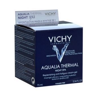 VICHY Aqualia Thermal Night SPA - Ενυδατική Φροντίδα Νυκτός και Μάσκα σε 1 προϊόν , 75ml