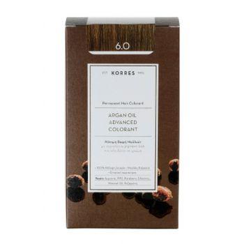 KORRES Βαφες μαλλιων Argan Oil Advanced Colorant Μόνιμη βαφή μαλλιών 6.0 ΞΑΝΘΟ ΣΚΟΥΡΟ ΦΥΣΙΚΟ